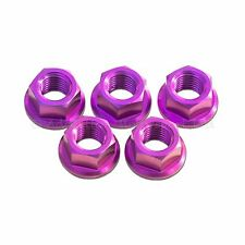 5x Suzuki GSXR1000 K5 K6 K7 K8 Purple M10x 1.25 Titanium Rear Sprocket Nuts