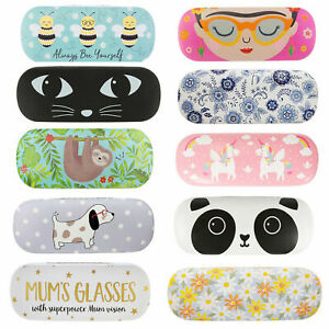 Hard Reading Glasses Case Spec Holder Gift With Cleaning Cloth Fun Design Animal