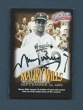 1997-98 Fleer MILLION DOLLAR MOMENTS MAURY WILLS Signed Auto. Baseball Card #25