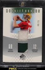 2005 SP Authentic Fabrics Aaron Rodgers ROOKIE RC DUAL PATCH /75 #RF-AR