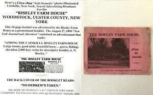 1899 ANTI-SEMETIC RISELEY FARM HOUSE WOODSTOCK NY NO HEBREWS PHOTO BOOK CATSKILL