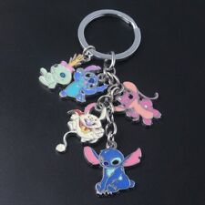 DISNEY LILO AND STITCH ANGEL SCRUMP DR HAMSTERVIEL CHARACTER CHARMS KEYRING