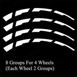 8 Sets Car Tire Reflective Stickers Blade Style Graphic Decal For 15-22'' Tires