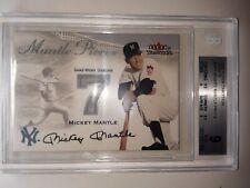 MICKEY MANTLE 2000 FLEER TRADITION UPDATE GAME WORN UNIFORM BGS Mint 9 Yankees