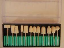 12pcs Nail Art Electric Polish Buffer Drill Bits Replacement Kit Salon Tool Set