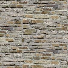 Gray Tan Brick Wall #88-92 Naturescapes Stonehenge Quilt Fabric by the 1/2 yard