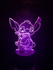 STITCH LILO AND STICH 3D Acrylic LED 7 Colour Night Light Touch Table Lamp