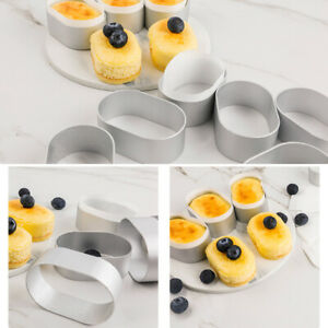 Oval Semi-cooked Cheese Cake Mould Non-stick Home Kitchen Baking Tool Bakewares