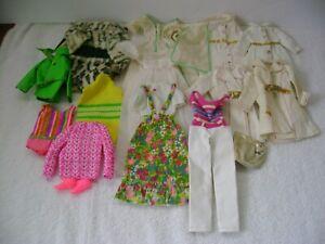 1960's- 70's Mattel FRANCIE, Twiggy junk doll clothes lot TLC parts