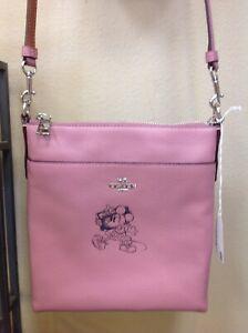 Coach Minnie Motif Messenger Crossbody Disney Leather