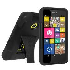 RUGGED AMZER DOUBLE LAYER HYBRID CASE COVER WITH KICKSTAND FOR NOKIA LUMIA 635