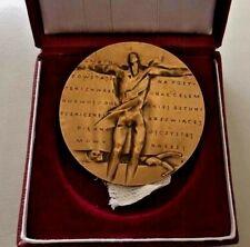 Polish Theater in Warsaw 1988 Bronze Medal with box - Anna Jarnuszkiewicz N149