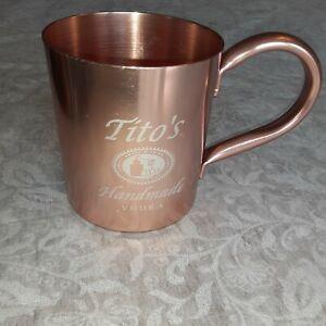 Tito's Vodka Original Copper Moscow Mule Mug.