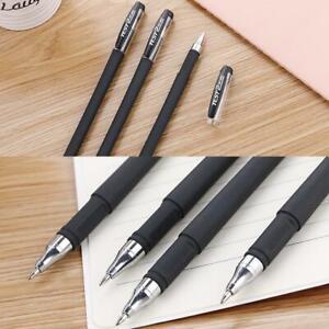 1* Black Gel Pen Full Matte Water Pen Student Writing Stationery Office Supplys
