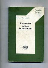 Gino Luzzatto # L'ECONOMIA ITALIANA DAL 1861 AL 1894 # Einaudi 1968