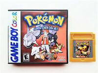 Pokemon Brown Version - Game / Case Gameboy (GB / GBC / GBA) Fan Mod USA Seller