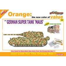 "Dragon #9133 1/35 German Super Tank ""Maus"" + German Tank Hunters Figure Set (Ora"