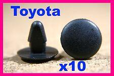 10 Toyota boot bonnet Toit Doublure Trim Isolation Fasteners Clips