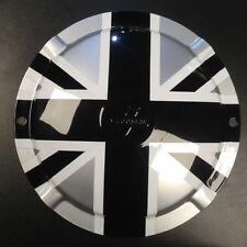 "Spare wheel hub cap Union Jack black/silver 10"" 2 hole Innocenti logo Lambretta"