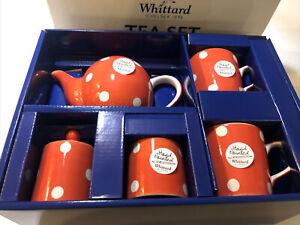 Whittard Florence Red Spot Tea Set