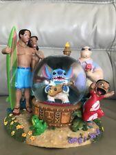 "Disney Store Lilo and Stitch ""Stitch as Elvis"" Music Snowglobe ""Globe Aloha Oe"""
