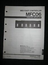 Yamaha Midi Foot Controller MFC06 Service Shop Manual Schematics Parts List 1989