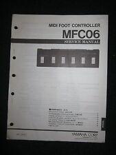 Yamaha Midi Foot Controller MFC06 Service Shop Manual Schematics Parts List 1989