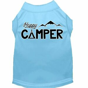 Mirage Pet Products Happy Camper Screen Print Dog Shirt Baby Blue Lg (14)