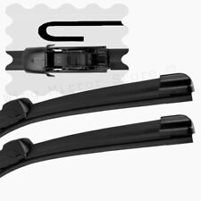 "For Saab 9-5 1997-2007 Front Windscreen 23"" 23"" Flat Aero Wiper Blades Set"