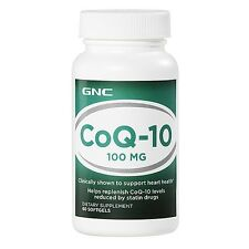 *GNC CoQ-10 100mg x 60 softgels ~  (Coenzyme Q-10) 'BEST BY' DATE OF 07/2017