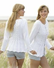 Woman Ladies Fitted Cable Cardigan/Jacket Cotton Aran S - XXXL  Knitting Pattern
