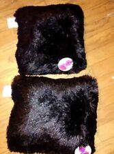 2 Pack Shaggy Plush Faux Fur Pillow  Fluffy Decorative Pillows