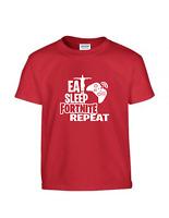 Eat Sleep Gaming Fortnite Repeat Funny Cool kids T-shirt Slogan Novelty Present