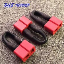 QTY-(3) Female Deans Jumper Shorting Plug Battery Eliminator Adapter T-Plug HPI