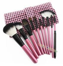 10 pezzi Comestic spazzole di trucco professionali + morbido PU Hot Borsa rosa