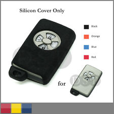 Leather Texture Silicone Cover fit for HONDA Flip Remote Key Case 3BTN 4 CLR BL