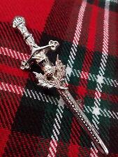 T. NUEVO Highland pin para Falda Escocesa con cardo Alto Acabado CROMADO /