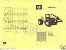 Equipment Brochure - John Deere - Logging Loader Skidder Harvester 4 item (E1286