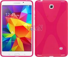 Gel X TPU Silicone Case Cover Skin Back Rose For Samsung Galaxy Tab 4 7.0 3G LET