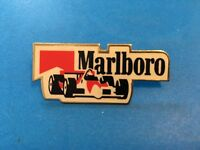 Vintage 1980's Marlboro Indy Car Racing Enamel Pin Cigarettes Smoking Tobacco