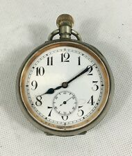Antique 8 Day Goliath Pocket Watch Not Working. Height 10cm