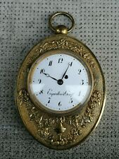 Ancienne pendule ESQUIVILLON & COMPe antique  clock bronze
