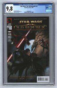 Star Wars Old Republic #4 1st Darth Marr & Sith Vitiate Dark Horse 2010 CGC 9.8