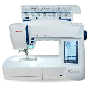 Janome Skyline S7 - Computerised Sewing Machine - 9MM, High-End, Quilting