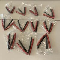 RC Power Cable 7mm Heatshrink Tube of 11x Pairs 20cm Long Red Black Job Lot.