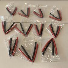 Bundler of 11x Pairs 20cm Red Black 7mm Heatshrink