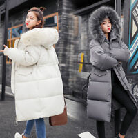 Womens Plus Size Fur hooded Quilted Padded Winter Coat Puffa Parka Jacket 8-20
