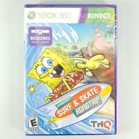 NEW! SpongeBob's Surf & Skate Roadtrip (Microsoft Xbox 360, 2011, Kinect) SEALED