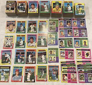 1975 Topps Lot (700+), Mickey Mantle, Koufax, Rose, Perez, Yaz, Reggie, Kaline++