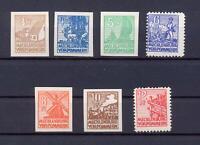 SBZ 29-36 X Freimarken Mecklenburg Kreidepapier postfrisch komplett (ws28)